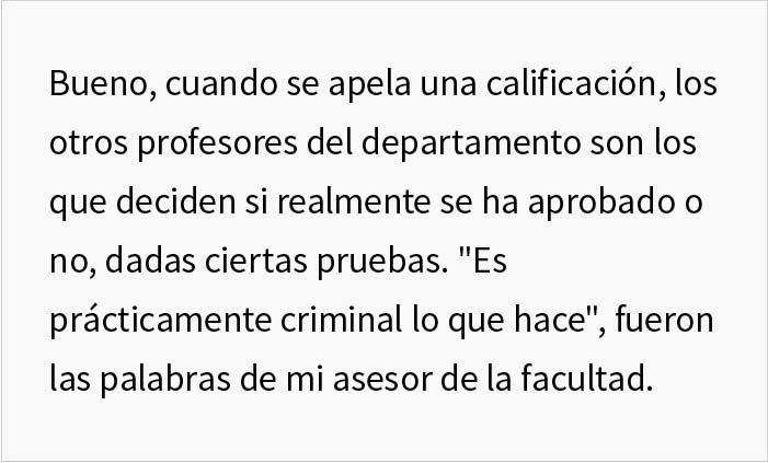 Este estudiante se vengó de su profesor perezoso tras suspender injustamente a la mitad de la clase